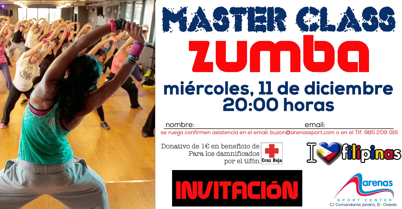 INVITACION MASTER CLASS Zumba