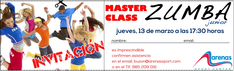 INVITACION MASTER CLASS ZUMBA JUNIOR