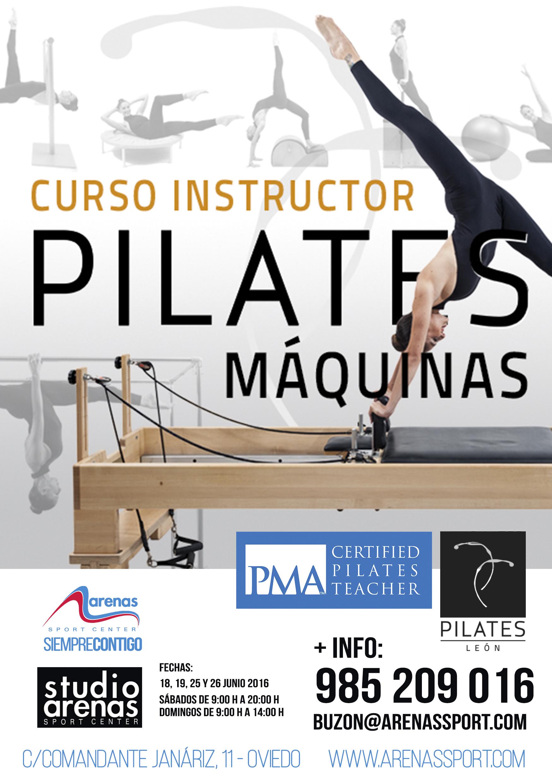 Flyer A5 Curso Pilates máquinas