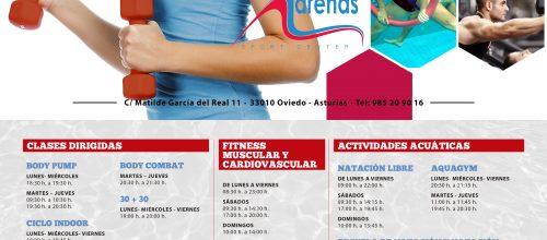 Horarios de otoño Arenas Sport Center