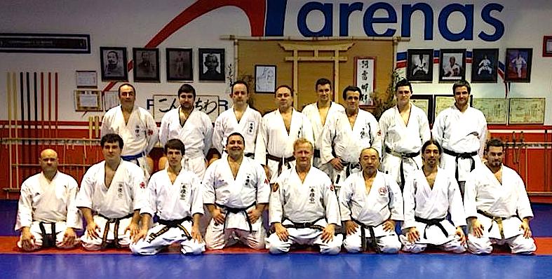 Grupo participante con el mestro Andreas