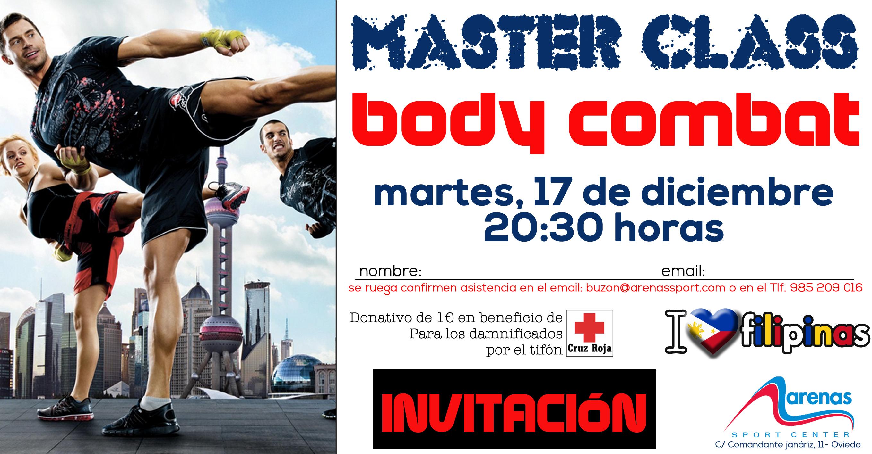 INVITACION MASTER CLASS Body Combat