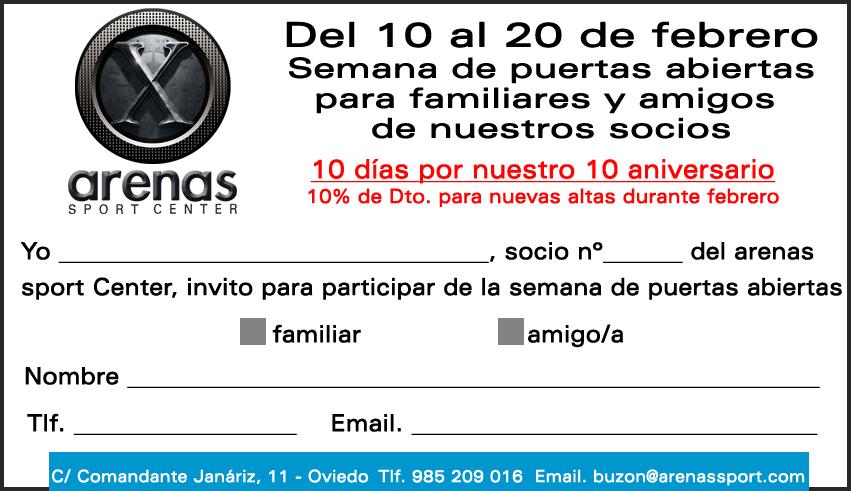Invitación Socios Semana de Puertas abiertas