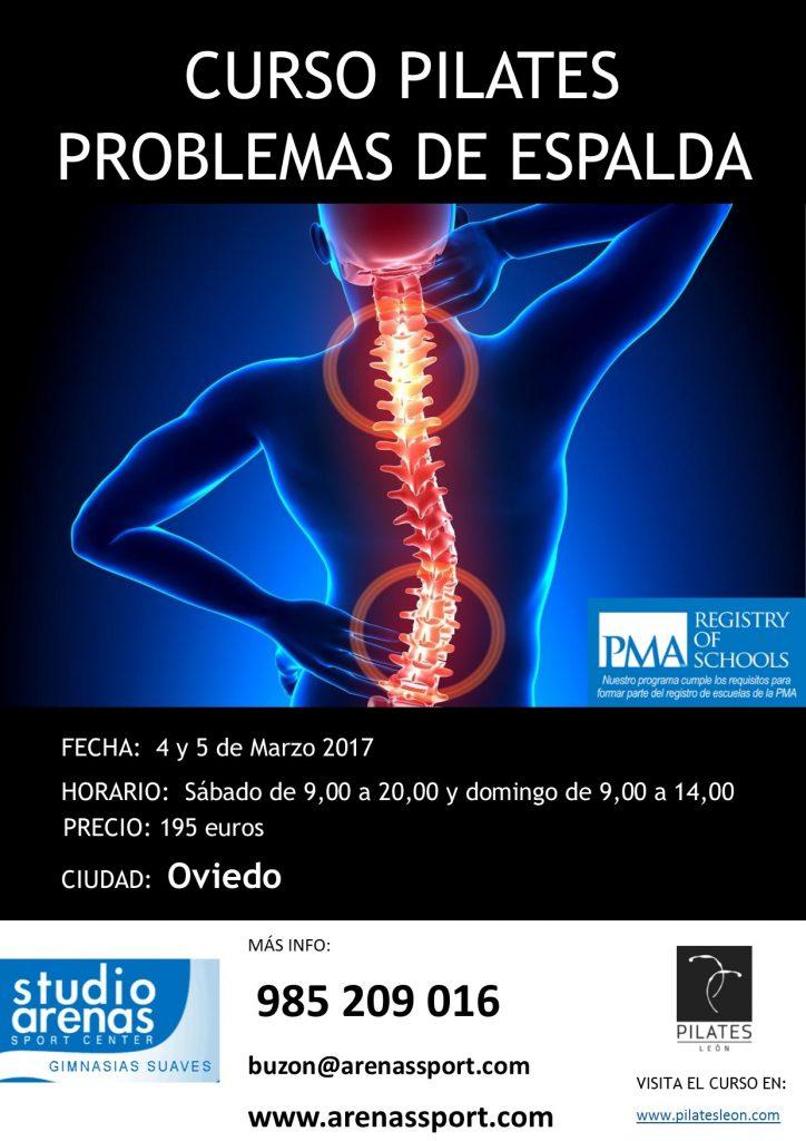 CARTEL PROBLEMAS DE ESPALDA OVIEDO